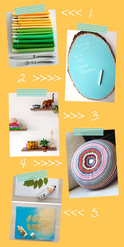 Spring DIY Home Decorating Ideas! Decorate your space for spring with this fun and colorful spring home decorating ideas that you craft yourself!