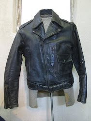 40's HERCULES W-BREAST LEATHER JACKET