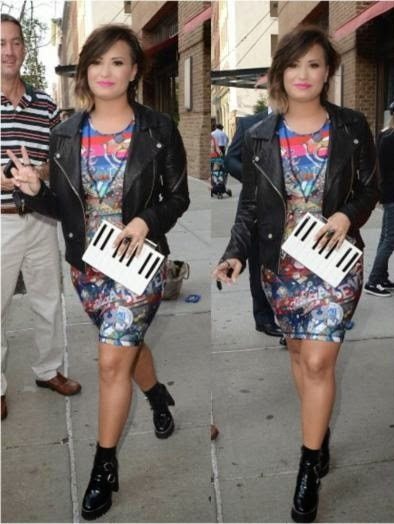 Demi Lovato Wearing Cynthia Rowley Dress
