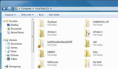 Show Hidden files and Folders