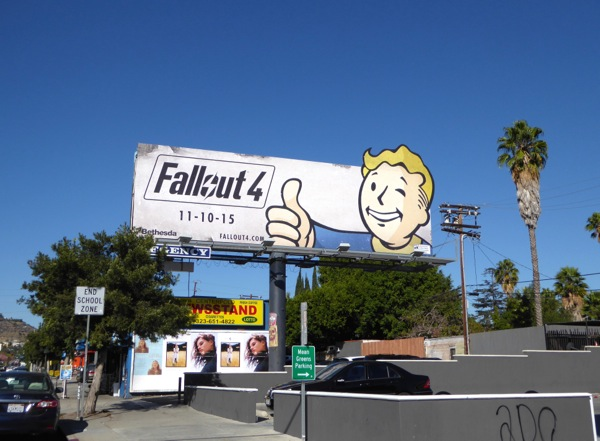 Fallout 4 Vault Boy billboard