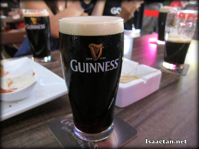 It was a night of endless Guinness
