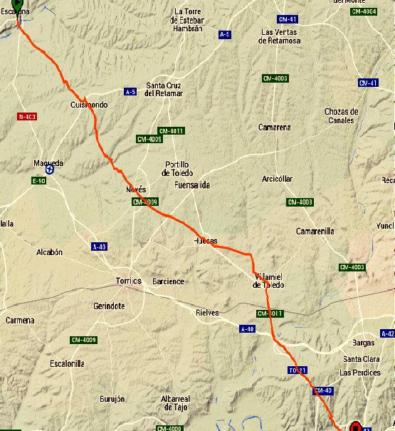 TRACKS GPS DESDE TOLEDO A CADALSO DE LOS VIDRIOS