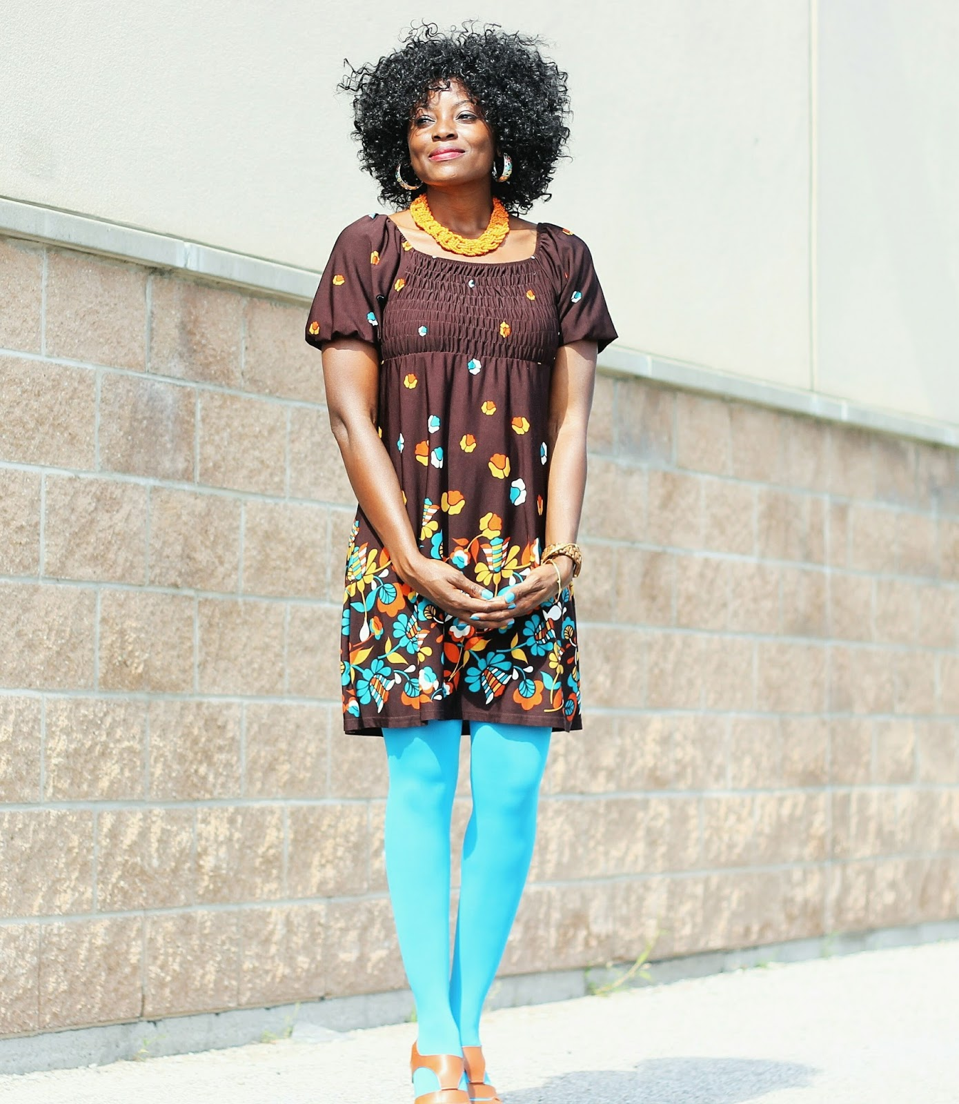 Boho x Retro style outfit mix with a gypsy dress