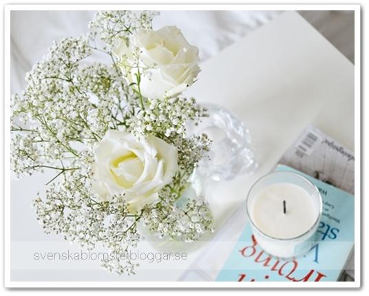 brudslöja och rosor, brudslöja inte för gulligt, bukett brudslöja, baby's breath bouquet, blommor hemma