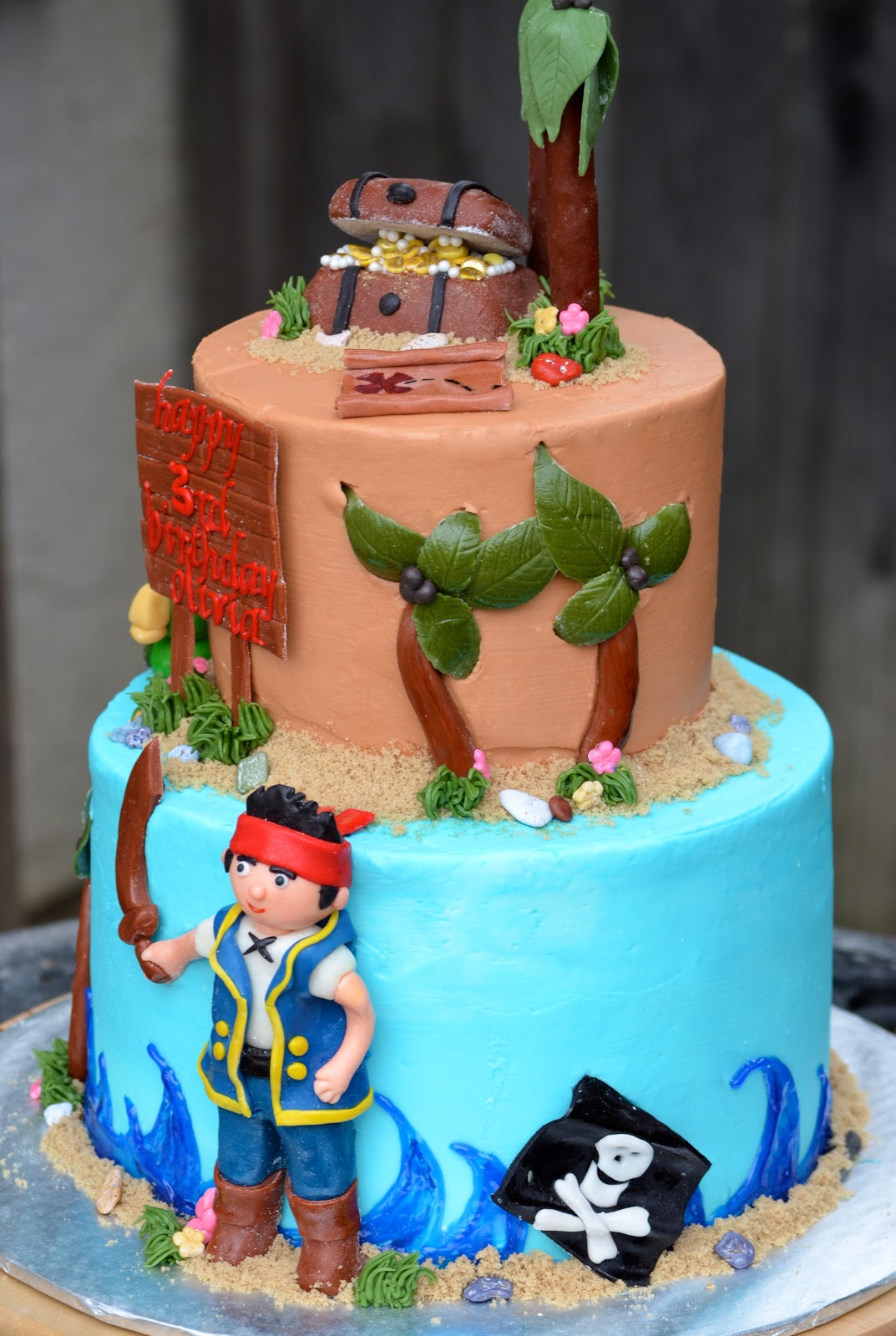 jake and the neverland pirates tiered cake - photo #22