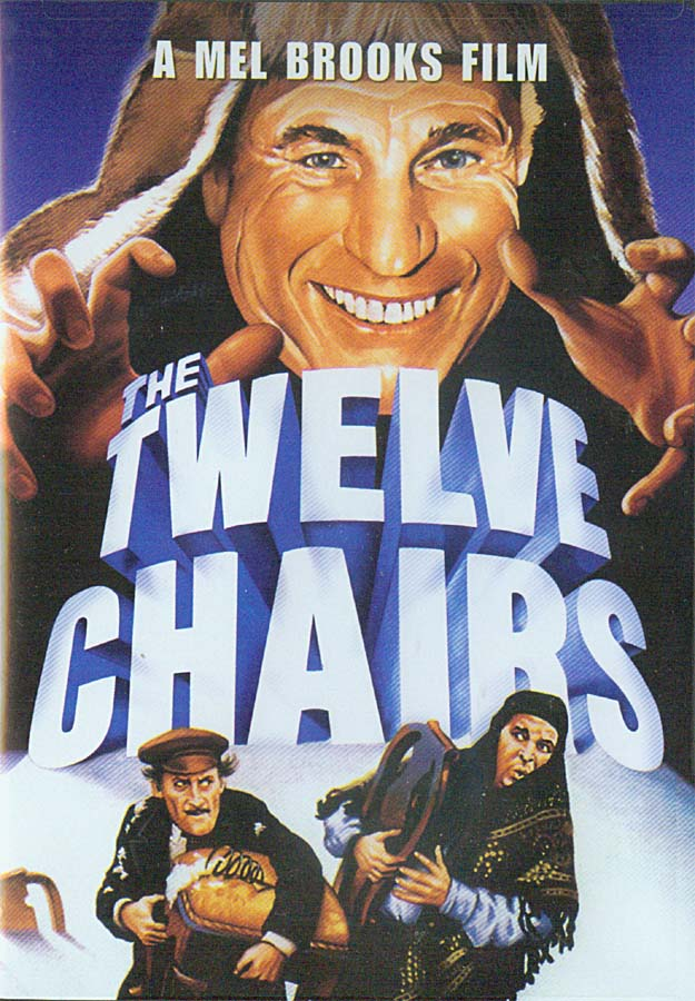 DVD cover of Mel Brook's movie The Twelve Chairs based on book by Ilf and Petrov