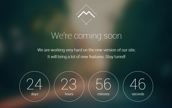 Responsive coming soon landing page template 2014 for Simple under construction html template