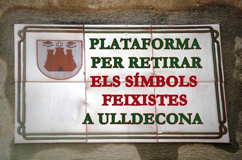 Plataforma per retirar els símbols franquistes a Ulldecona