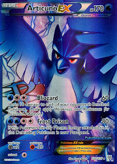 Articuno EX Full Art Plasma Storm Pokemon Card