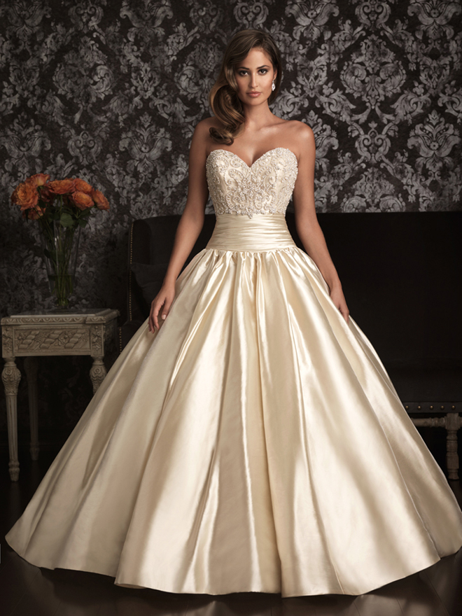 Allure bridals spring 2013 my dress of the week belle for Princess style wedding dresses sweetheart neckline