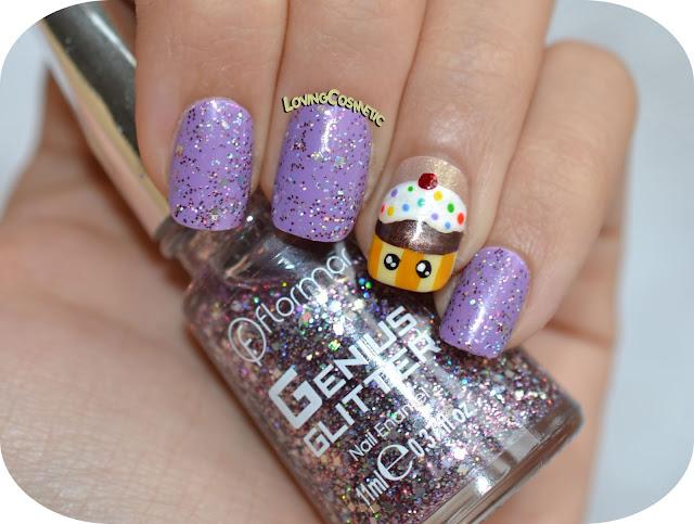 Nail Art Flormar beauty Toys, morado, cupcake, kawaii uñas diseño uñas facil tarta pastel