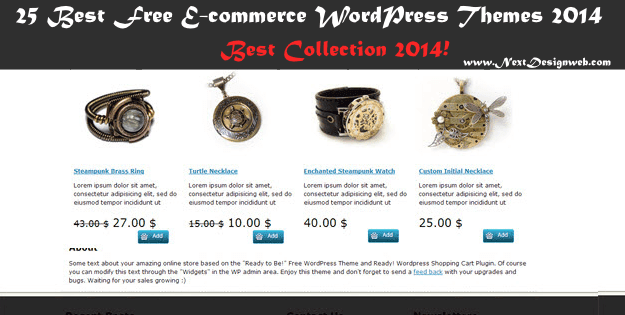 25 best free E-commerce Wordpress theme