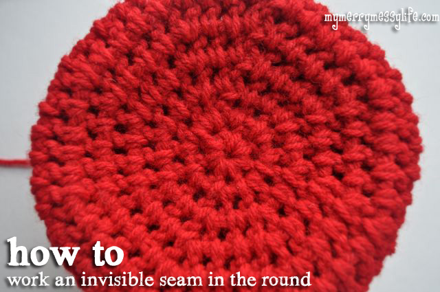 Crochet Invisible Seam : How to Join A Round with Invisible Seams {free crochet tutorial}