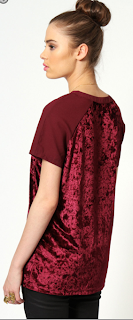 Claire Velvet + Chiffon Scoop Neck Top