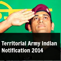 Territorial Army India Notification 2014