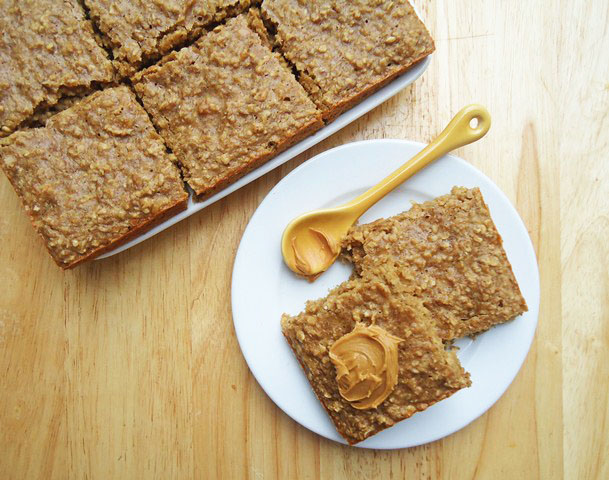 ... Kitchen Diary: Healthy Breakfast Peanut Butter Banana Oatmeal Squares