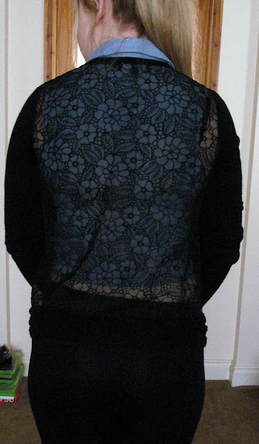 black floral pattern cardigan