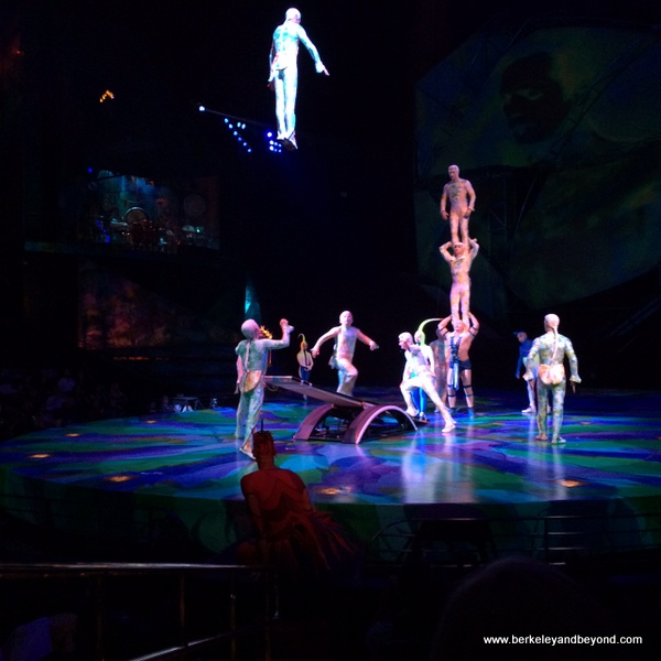 performers in Mystere at Treasure Island in Las Vegas