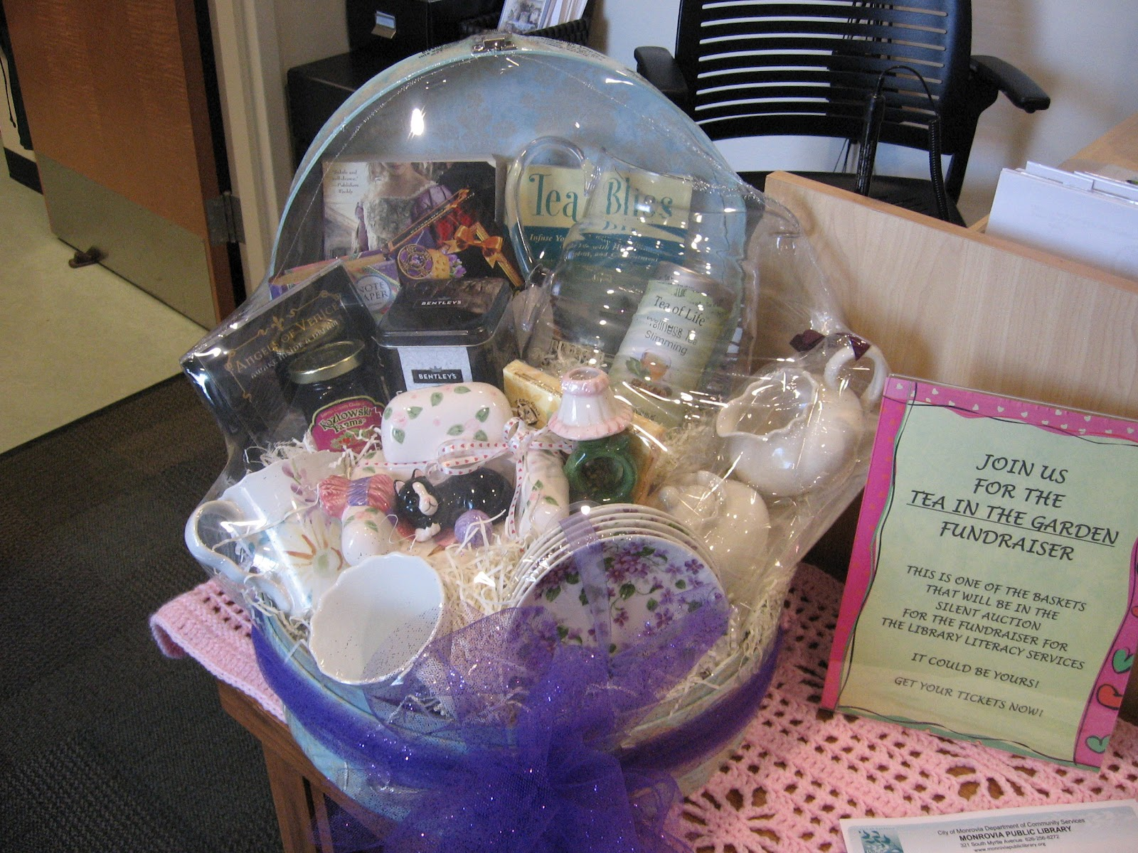 Silent auction basket ideas theme baskets they re holding a silent