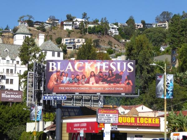 Black Jesus Last Supper parody billboard