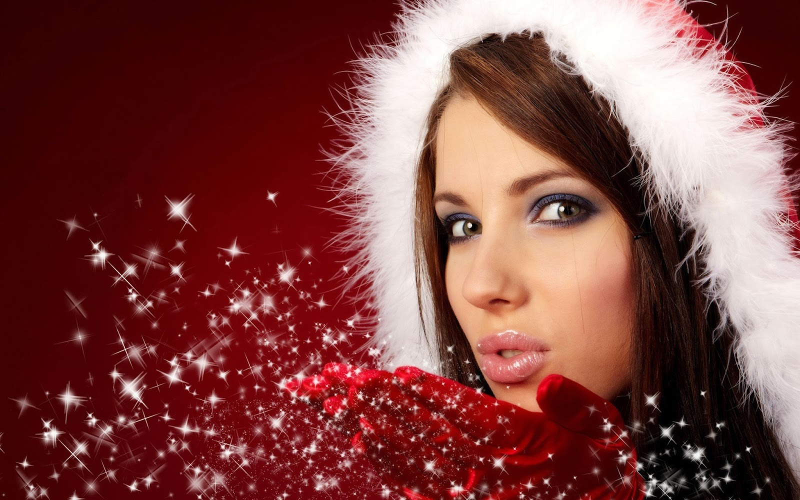 Sexy Christmas Girl Wallpaper