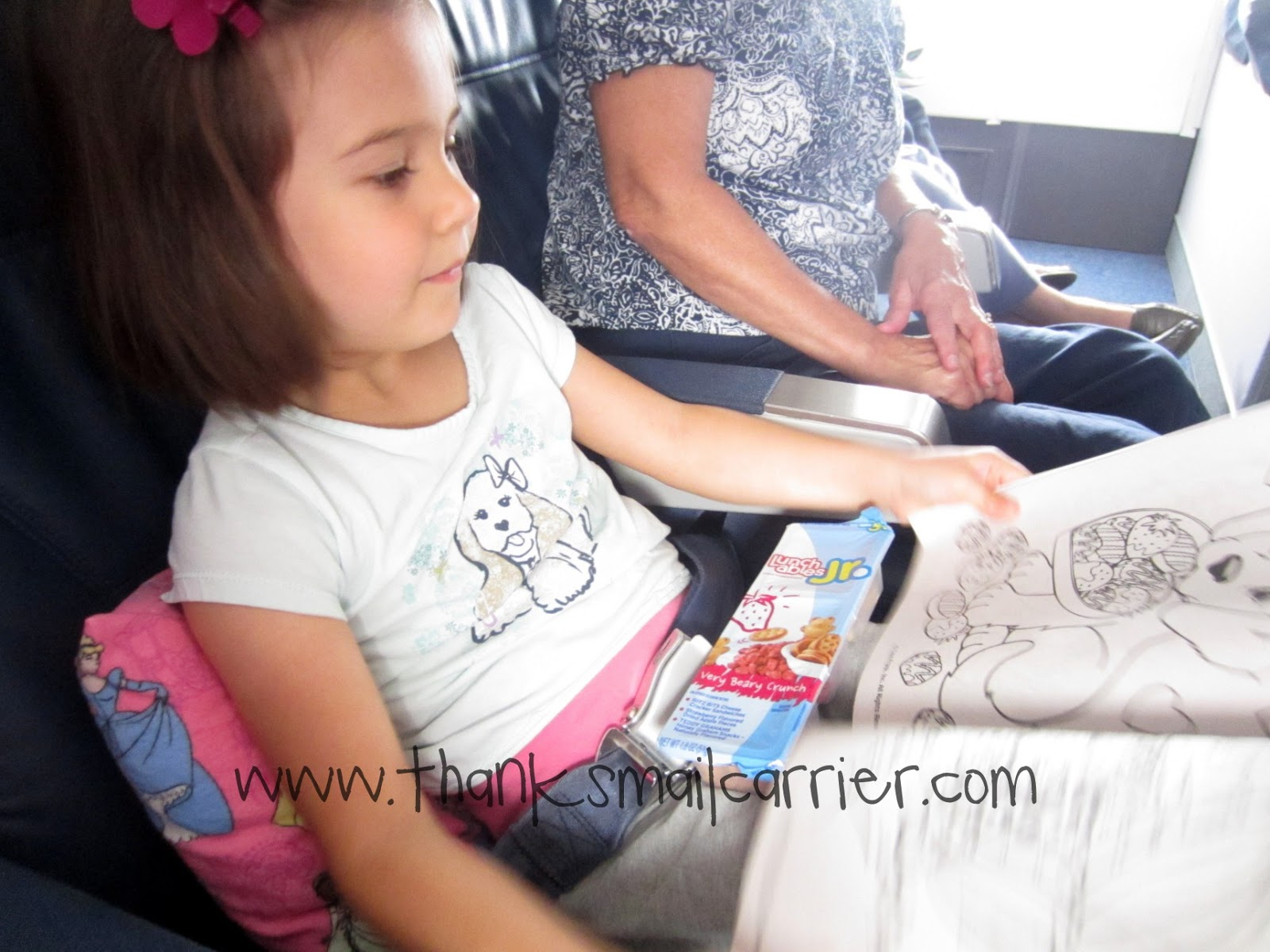 Lunchables Jr on airplane