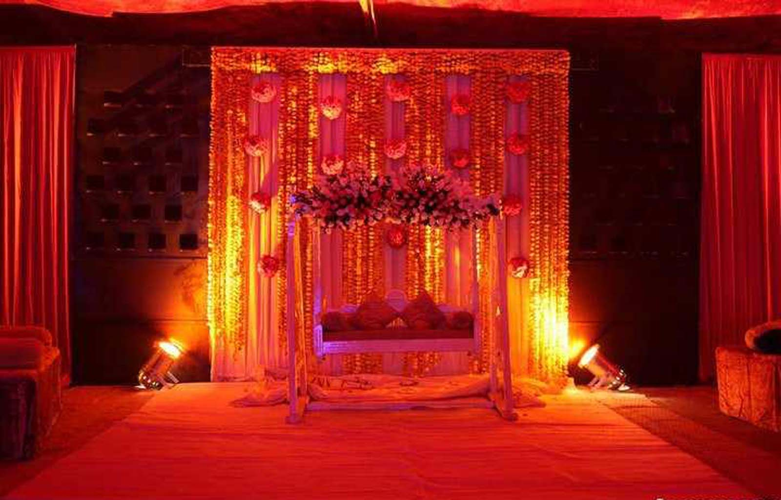 Bengali Wedding Guide: Gaye Holud or Turmeric on the Body Stage ... for Stage Decoration Ideas Design  585hul