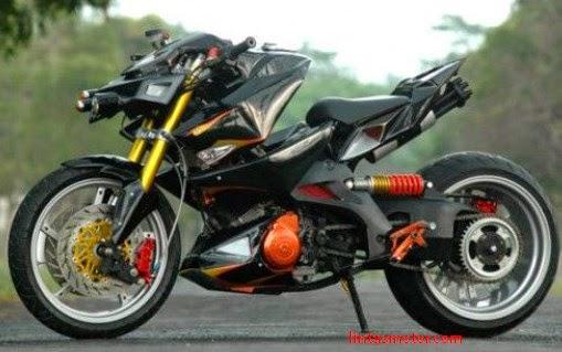 Modifikasi Suzuki Satria F150 Black Magic