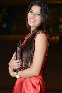 Actress Sabha Picture Gallery in Red Dress at Bunny n Cherry Audio Launch Function 0013.jpg