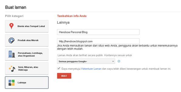 Cara Membuat Halaman Google +