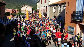 Départ des trails en terre cathare à Cucugnan
