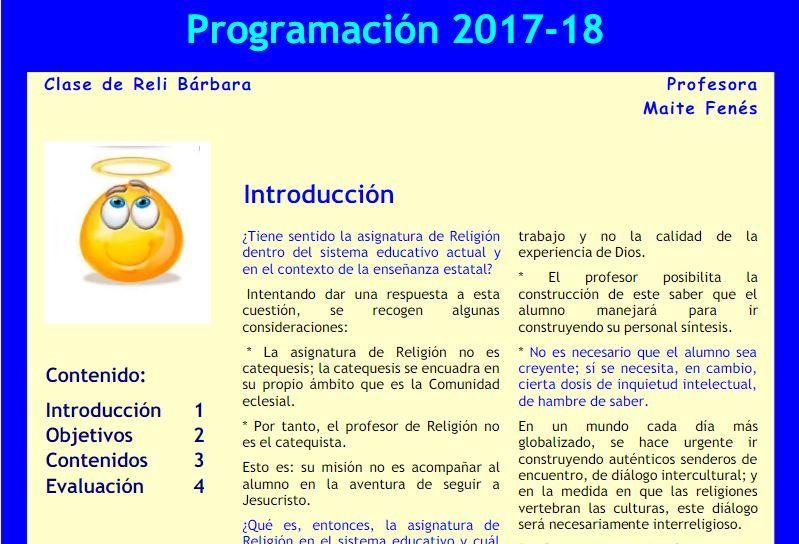 Mini programación 2017-18