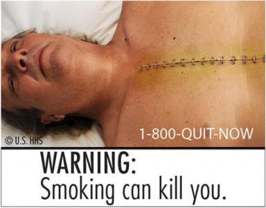 Disagio fumante smesso in una gola