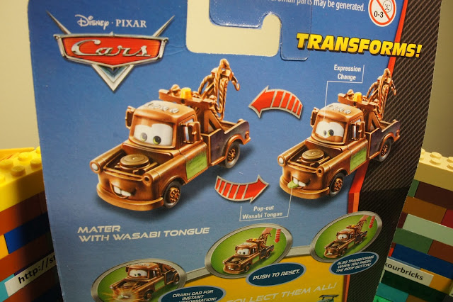 Pixar cars tow mater w pop out wasabi tongue quick changers race