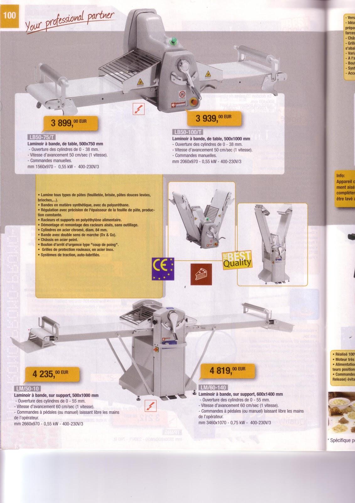 Laminoir bande 3899 batteur 20 litres 2979 batteur for Fournisseur materiel patisserie