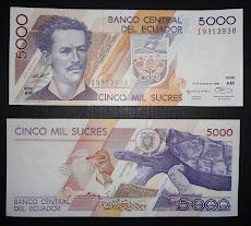 Ecuador  1996 - 5000 sucres