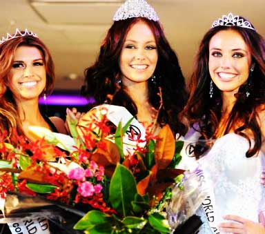 Amber Greasley - Miss World Australia 2011