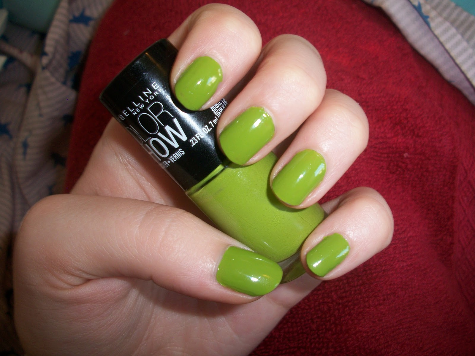 Maybelline Color Show Nail Polish In Go Green Review Swatches