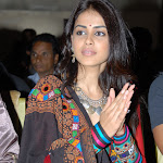 Genelia D'Souza Looks Hot In Red Dress At Telugu Film 'Naa Ishtam' Audio Success Meet