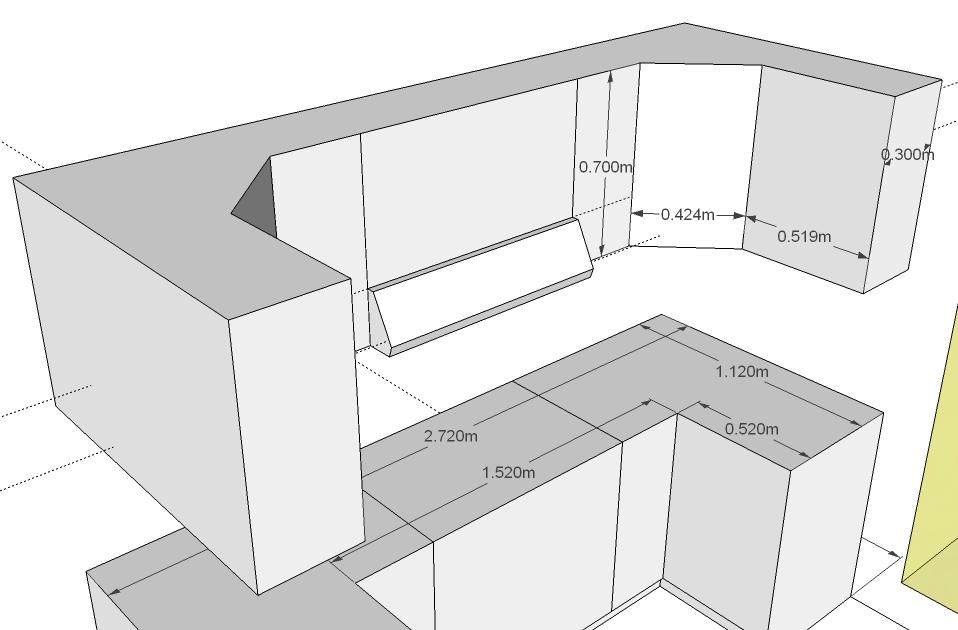 Closets y cocinas integrales residencial febrero 2012 for Planos de cocina en linea