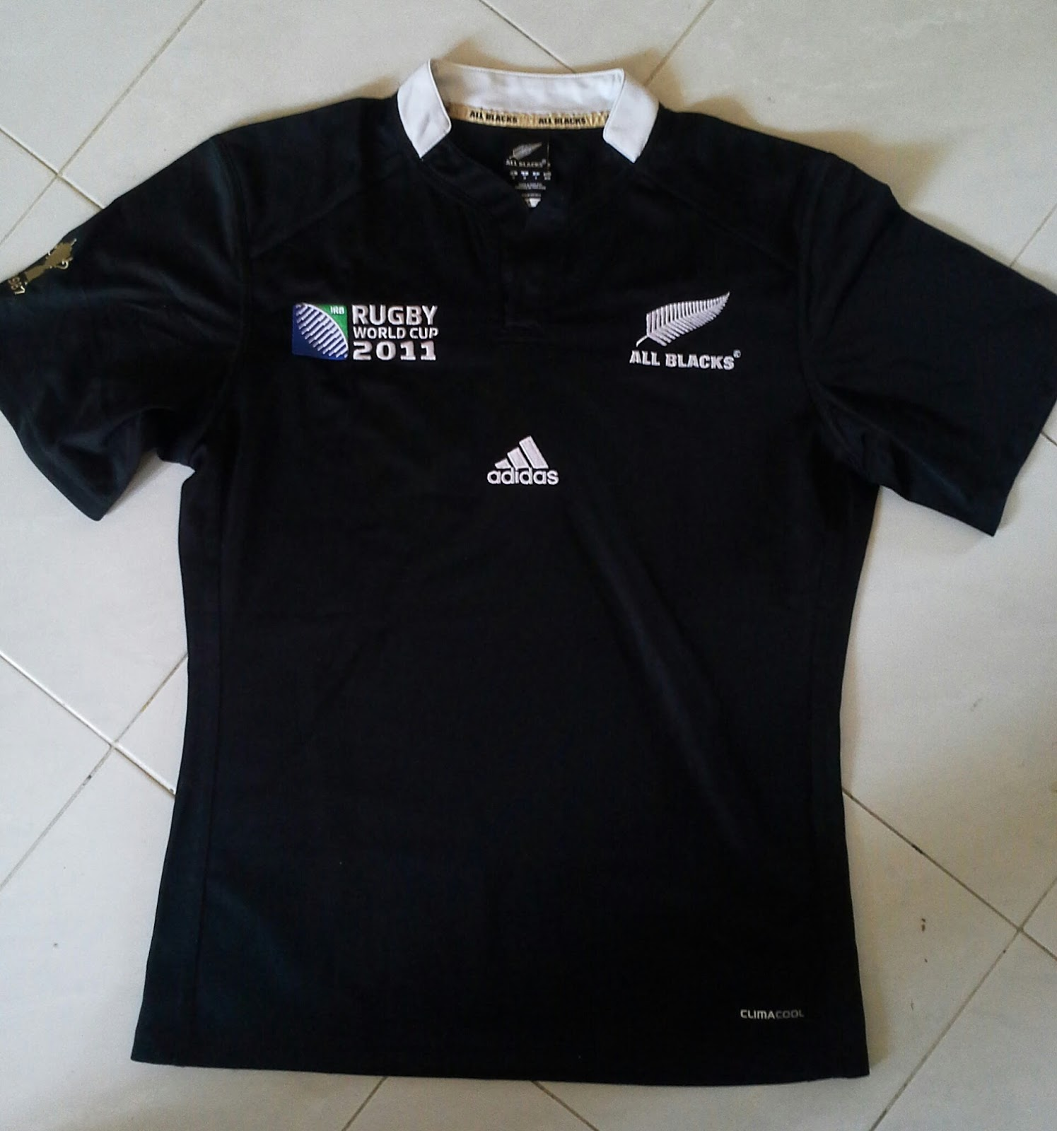 All black t shirt new zealand - New Zealand All Blacks Rwc2011 Home Pro Ss Rugby Jersey