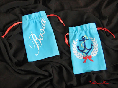 Woreczki marynistyczne z imionami / Marine pouches with names