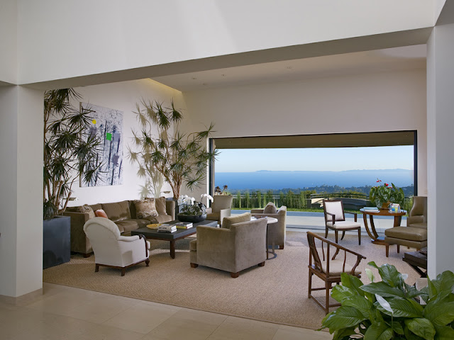 Photo of living room with an ocean views