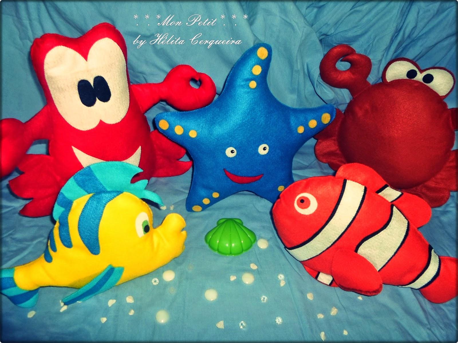 fundo do mar-decoração-aniversário-feltro-pequena sereia