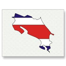 Costa Rica-Flag map