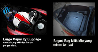 Box bagasi dalam new Xeon RC vs Mio Sporty