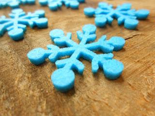 śnieżynki z filcu