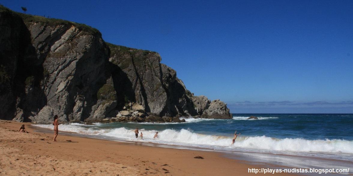 Nude beach Covachos (Cantabria, Spain)