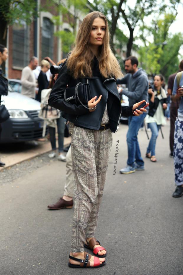 Caroline Brasch Nielsen after Fendi, Milano, September 2012